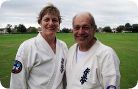Senpai Jenny and Hanshi Steve Arneil